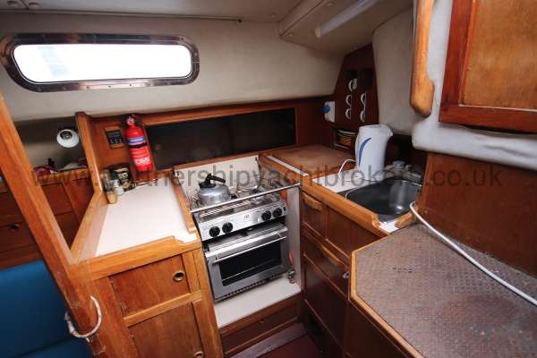 Westerly Fulmar The galley - starboard side aft