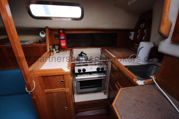Westerly Fulmar The galley -