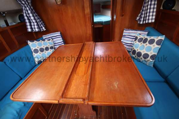 Westerly Fulmar The saloon table - leaves extended