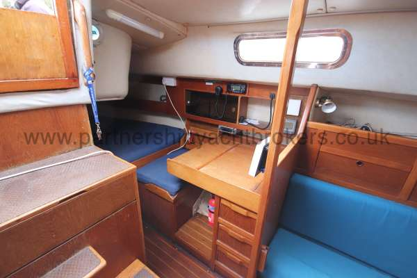 Westerly Fulmar Saloon view - port side aft