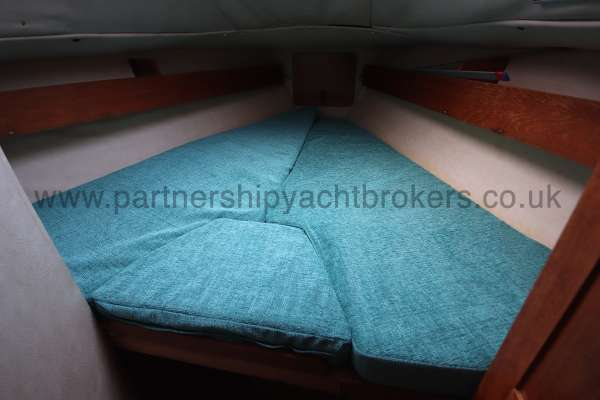 Westerly Fulmar Fore cabin berth - a large double