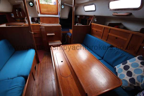 Westerly Fulmar The saloon  - looking aft