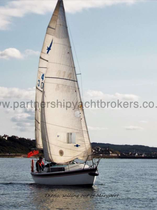 Achilles 24 Under sail - owners pic