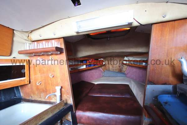 Achilles 24 Looking into the fore cabin -