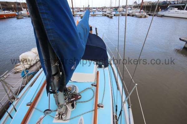 Achilles 24 Deck view port side -
