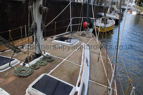Westerly Vulcan Deck view - from starboard