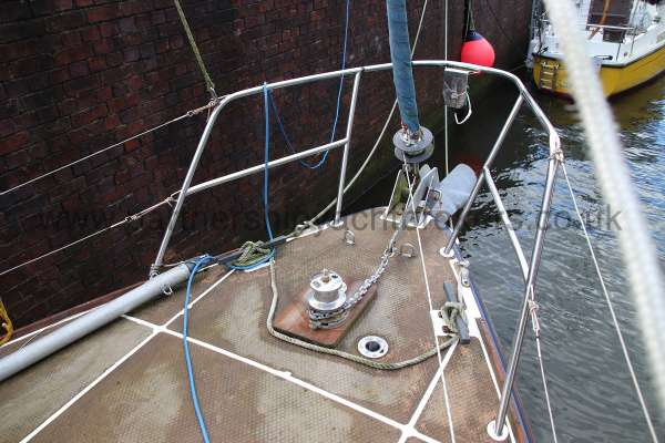 Westerly Vulcan Fore deck view -