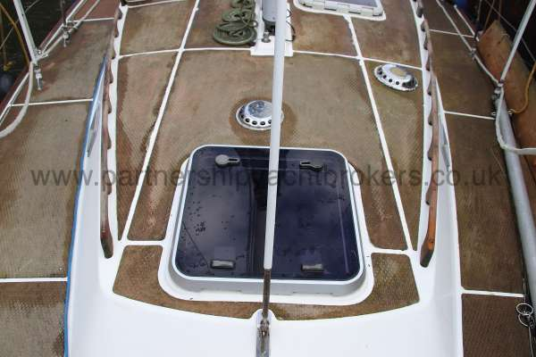 Westerly Vulcan The fore hatch -