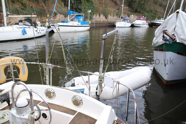 Westerly Vulcan The tender and davits -