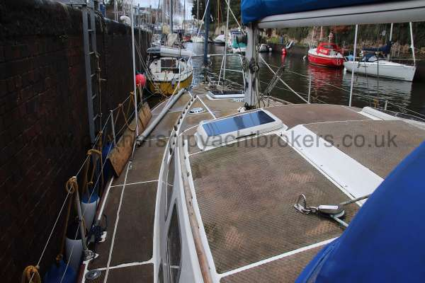 Westerly Vulcan Port side deck -
