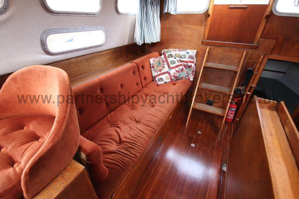 Westerly Vulcan Deck saloon view - looking aft