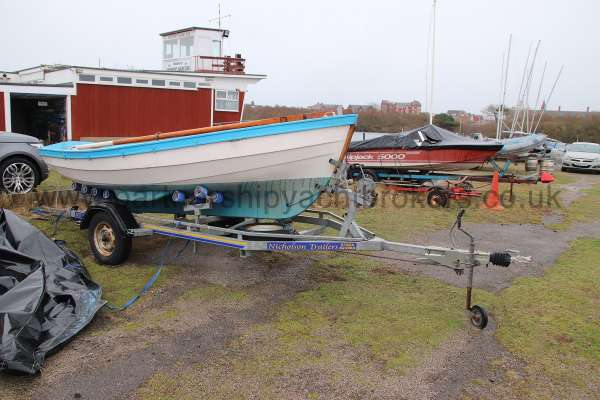 Loch Broom Post Boat On her trailer -