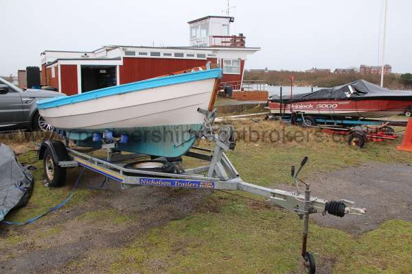 Loch Broom Post Boat On her trailer - starboard side view