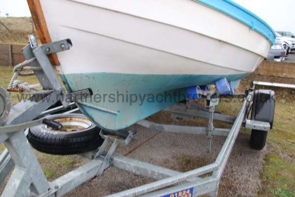 Loch Broom Post Boat Trailer close up -