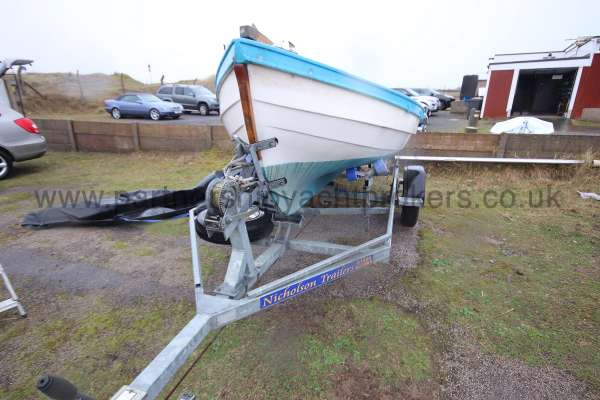 Loch Broom Post Boat On the trailer -