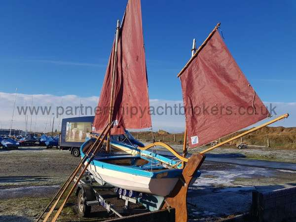 Loch Broom Post Boat The mizzen sail - owners pic