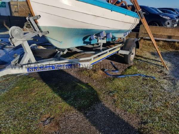 Loch Broom Post Boat On her trailer - owners pic