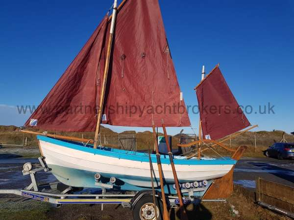 Loch Broom Post Boat Sails up - for display owners pic