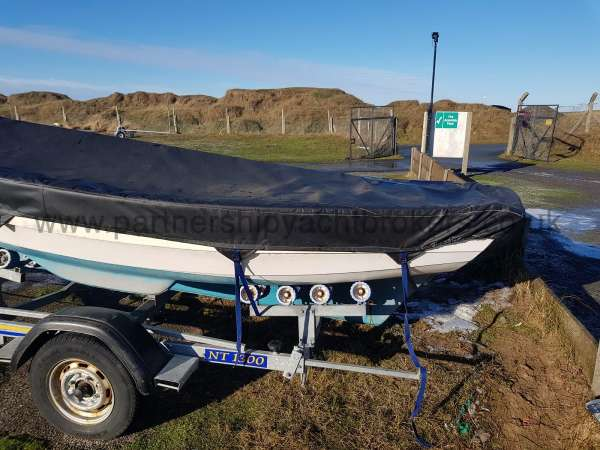 Loch Broom Post Boat The heavy duty all over cover - owners pic