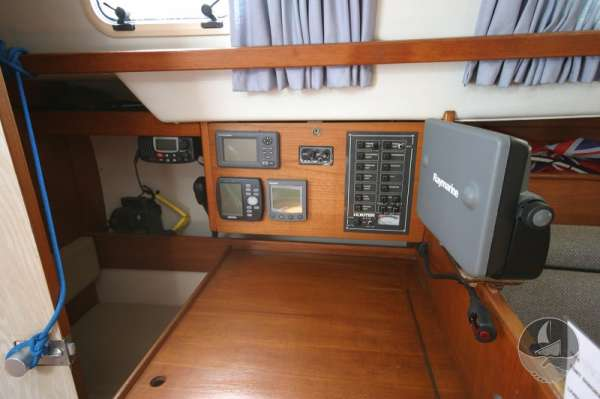 Hunter Channel 32 Navigation table detail -