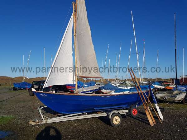 Home built Shetland Skiff Fully rigged old main sail - owners pic