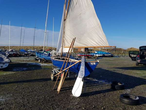 Home built Shetland Skiff Seen from astern - owners pic