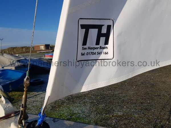 Home built Shetland Skiff New fore sail - owners pic