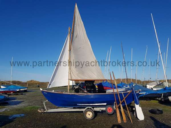 Home built Shetland Skiff Rigged with old main -