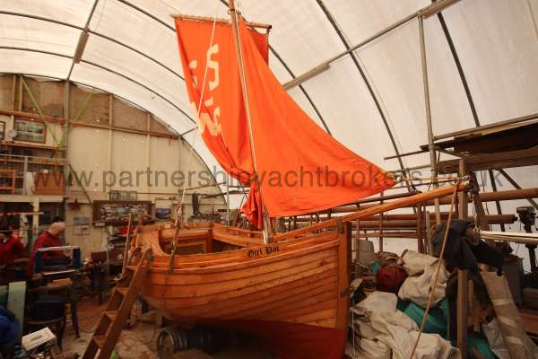 Devon Lugger 18 ft Wooden Classic  - still in the workshop