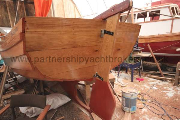 Devon Lugger 18 ft Wooden Classic  - rudder and counter