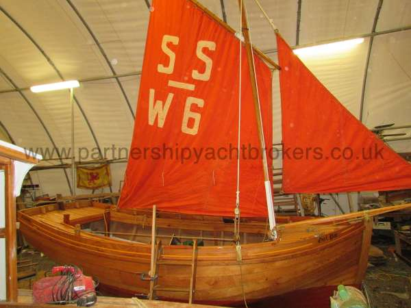 Devon Lugger 18 ft Wooden Classic  - standing lugsail rig