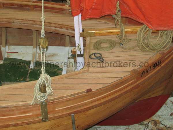 Devon Lugger 18 ft Wooden Classic  - builders pic