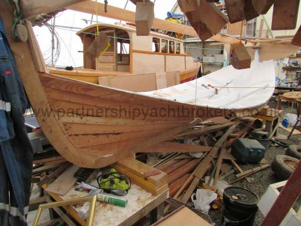 Devon Lugger 18 ft Wooden Classic  - early in the build