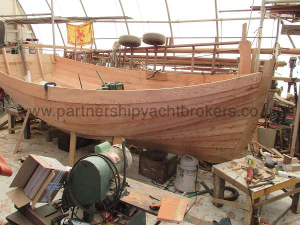 Devon Lugger 18 ft Wooden Classic  - workshop view