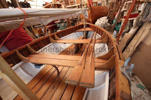 Wooden Classic Clinker built sailing dinghy Wooden clinker dinghy  - a wooden classic