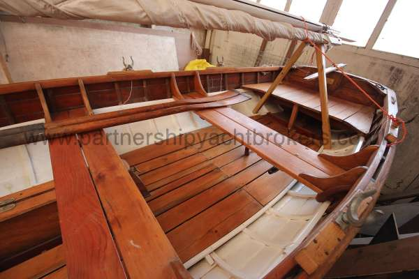 Wooden Classic Clinker built sailing dinghy Wooden clinker dinghy  - beautifully restored