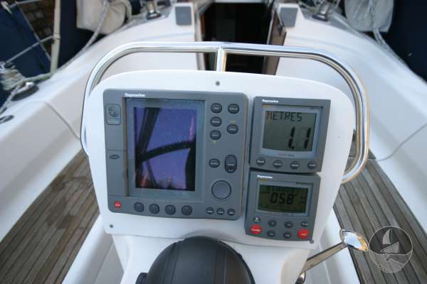 Bavaria 36 Instruments  at the helm -