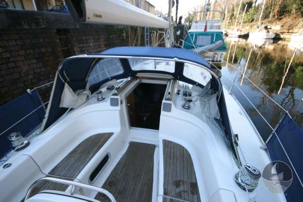 Bavaria 36 Ther cockpit looking forward -