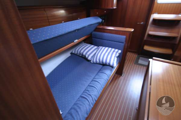 Bavaria 36 The starboard settee - View from from forward