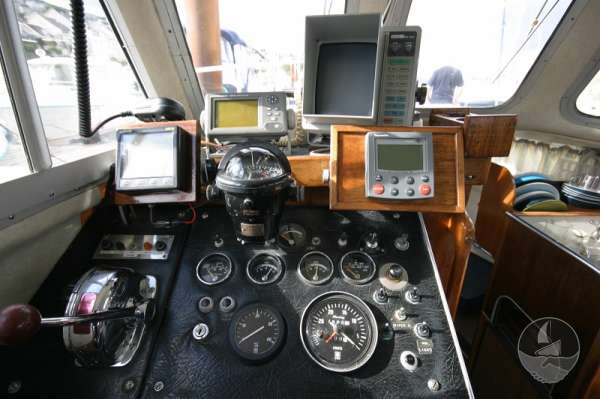 Newhaven Sea Warrior instruments at the helm -