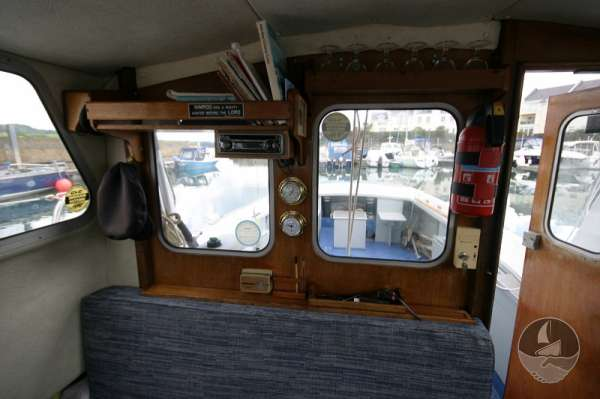 Newhaven Sea Warrior wheelhouse detail -