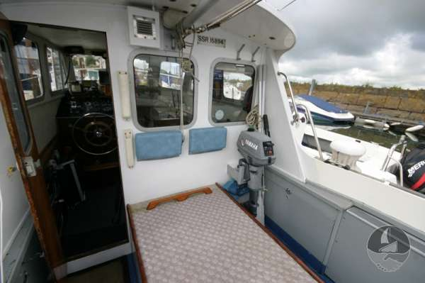 Newhaven Sea Warrior The wheelhouse from the deck -