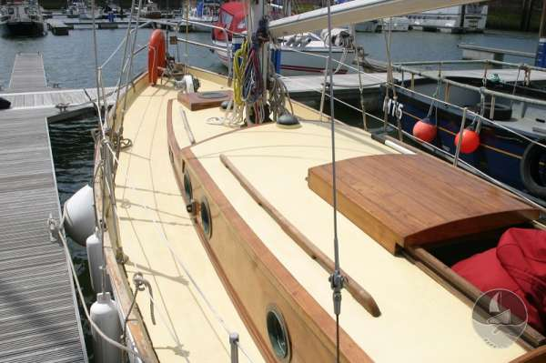 Vertue Classic Wooden Yacht Port side deck -