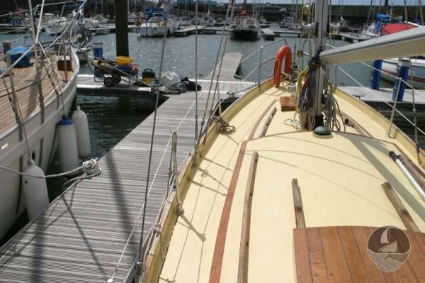 Vertue Classic Wooden Yacht Deck view -