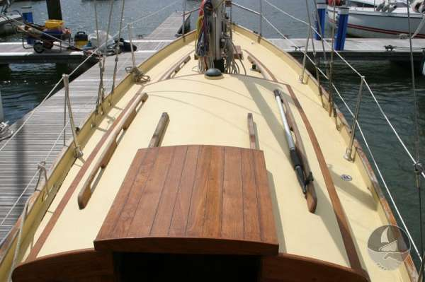 Vertue Classic Wooden Yacht General deck view -