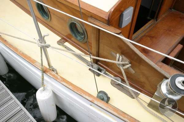 Vertue Classic Wooden Yacht Deck detail -