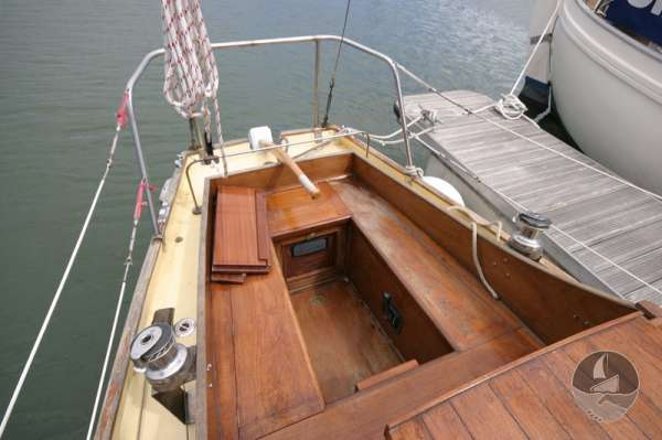 Vertue Classic Wooden Yacht The cockpit looking aft -