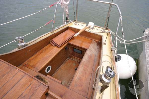 Vertue Classic Wooden Yacht the cockpit -