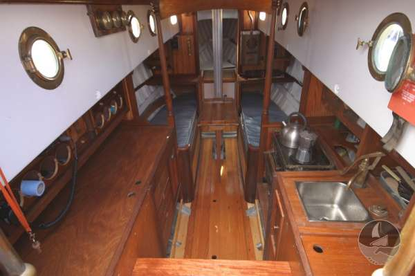 Vertue Classic Wooden Yacht The saloon  -