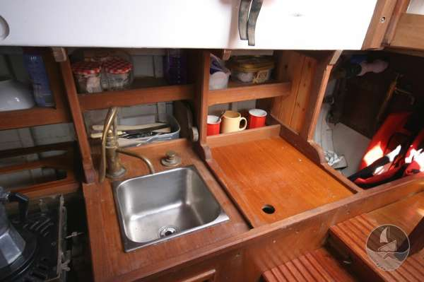 Vertue Classic Wooden Yacht The galley -